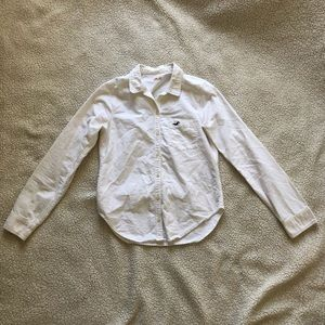 Hollister | White Button Up Top